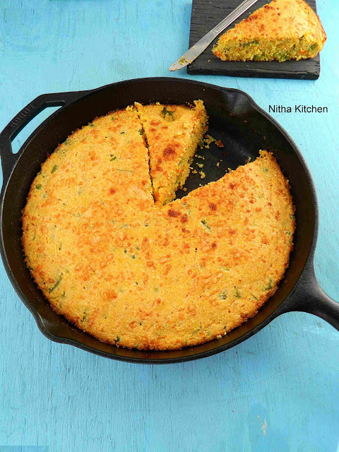 Skillet Chili Cheese Cornbread | Thanksgiving Recipe