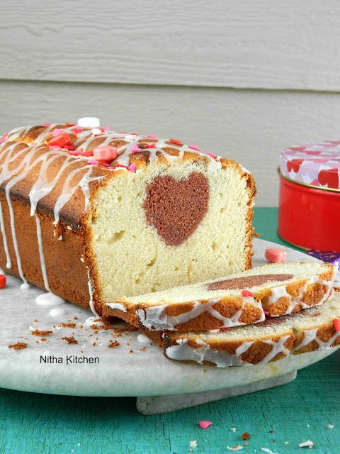 Hidden Heart Loaf Cake | Surprise Inside Valentine Special Pound Cake
