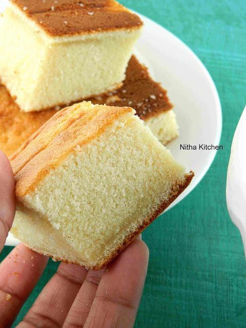 Hot Milk Sponge Cake Recipe with Eggless Option
