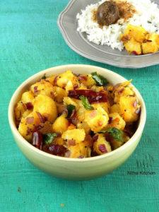 Maravalli Kilangu Varuval Kappa Masala Recipe | Yuca (Yucca) Stir Fry