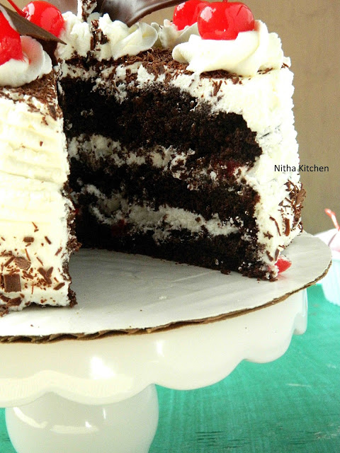 Eggless Black Forest Cake3 L