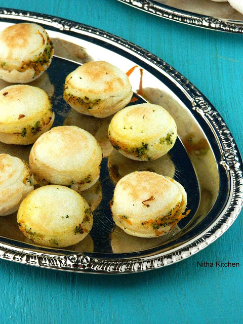 Veggies Stuffed Kuzhi Paniyaram | Mixed Veg Sandwiched Appe