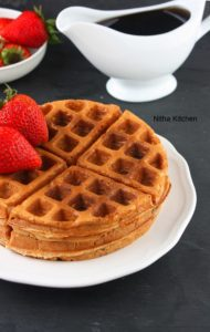Eggless Apple Cinnamon Waffles From Scratch