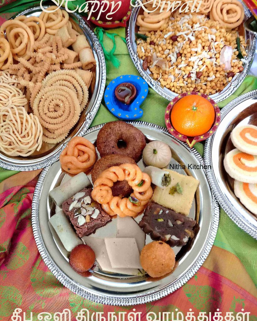 Diwali collection snack sweet and savories from nitha kitchen