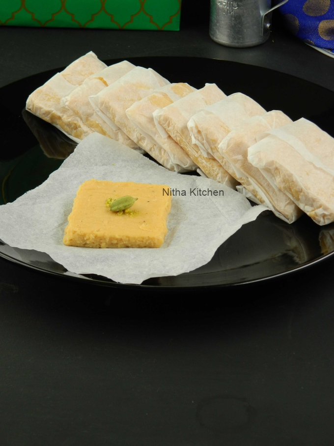 Milk Peda Palkova Milk Fudge