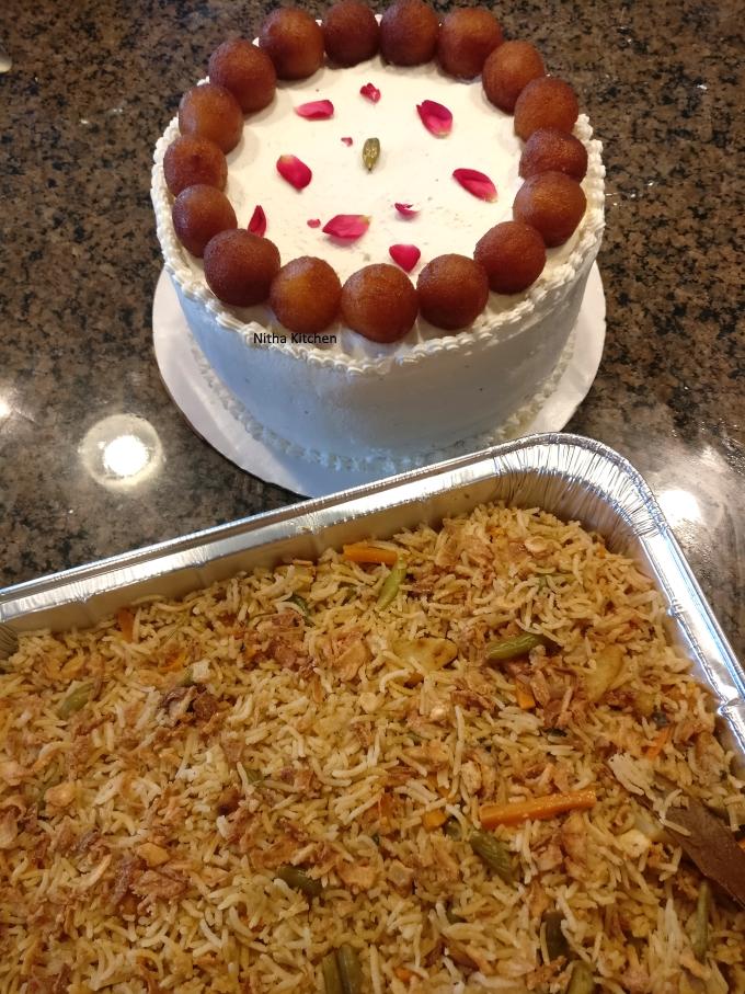 gulab jamun cake potluck party idea