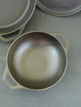 How to season a Cast Iron pan, Traditional way