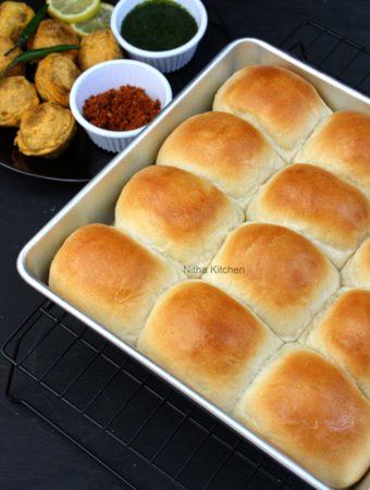 eggless ladi pav bread bun video recipe