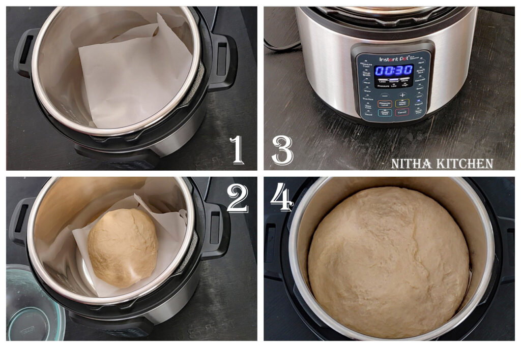Bread Proofing in Instant Pot Eggless Ladi Pav Recipe From Scratch