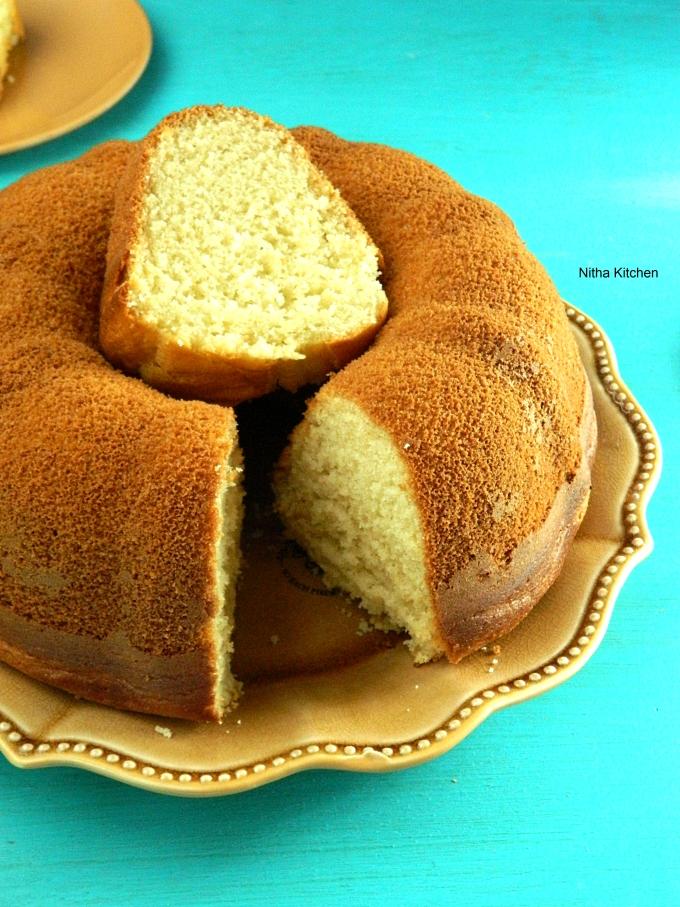Eggless Vanilla Sponge0 L