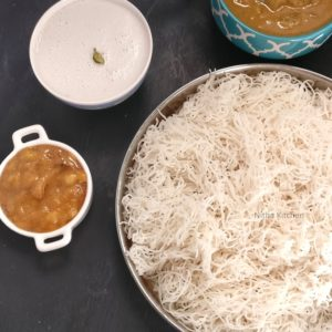 idli rice Idiyappam sandhagai instant steamer string hoppers with coconut milk thengaai paal panchamirtham