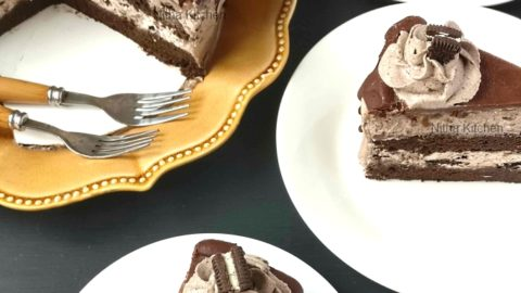Oreo Ice Cream Cake From Scratch Video Recipe, how to make ice cream cake without spring foam pan