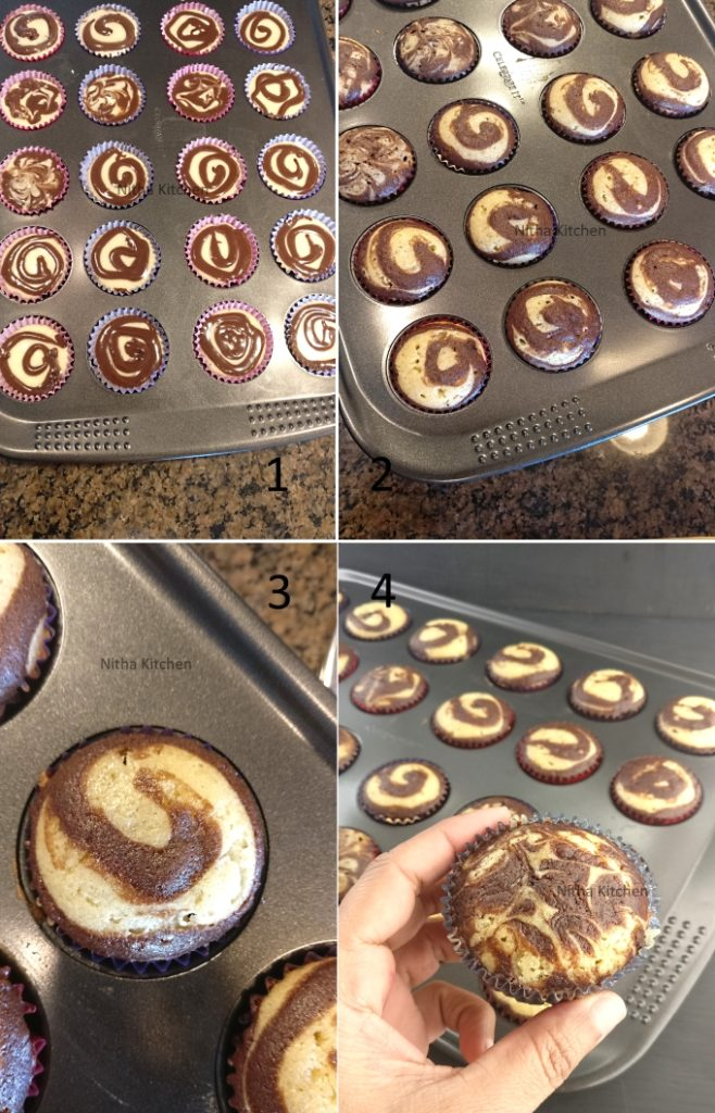 marble cake boutique cupcakes with vanilla buttercream frosting recipe in detail with step by step pictures