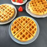 Eggless Strawberry Waffles Video Recipe