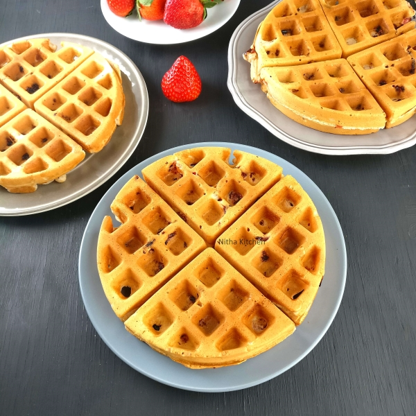 Egg Free Strawberry Waffles Video Recipe