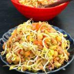 boiled peanut chickpeas veg salad video recipe