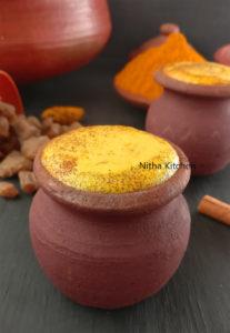 Golden Turmeric Milk Panakarkandu manjal paal video recipe