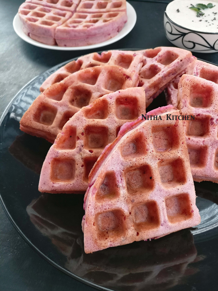 Cranberry Avocado Waffles Video Recipe Cranberry Savory Waffles | Dosa Batter Waffles