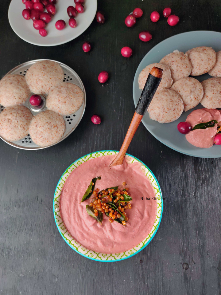 cranberry almond chutney video recipe
