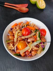 karavilla sambal bitter gourd veg salad bowl