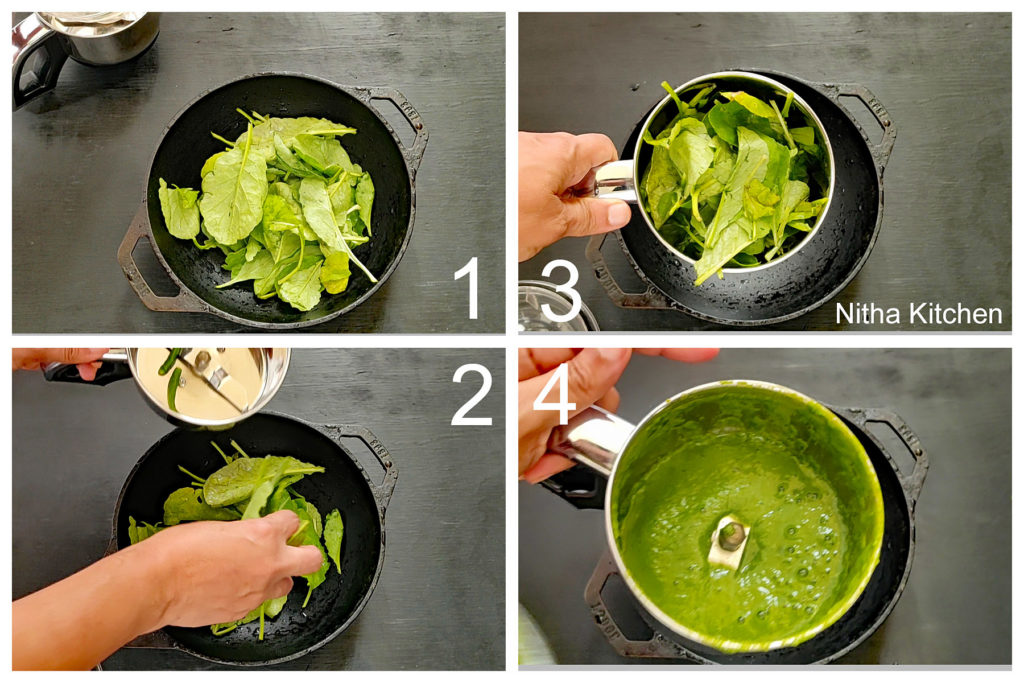 Radish greens puree in Indian cooking Nitha Kitchen