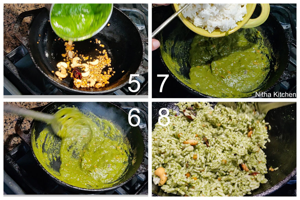 Radish greens variety rice in Indian cooking by Nitha Kitchen