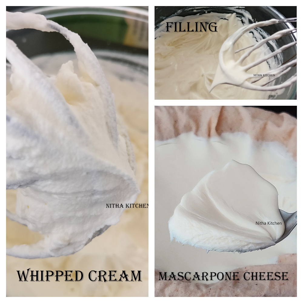 Homemade Mascarpone cheese, Creamy Filling and Stiff Mascarpone Whipped Cream Recipe
