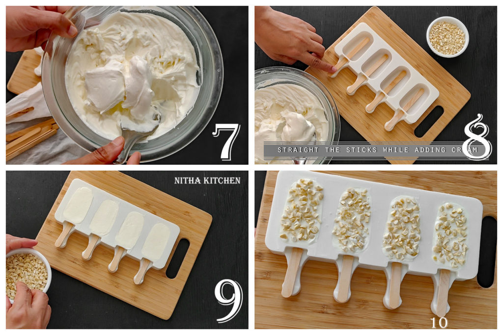 step by step whipping cream for choco bar ice cream bars recipe