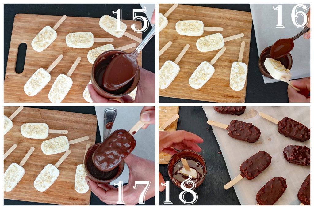 step by step choco bar ice cream bars recipe