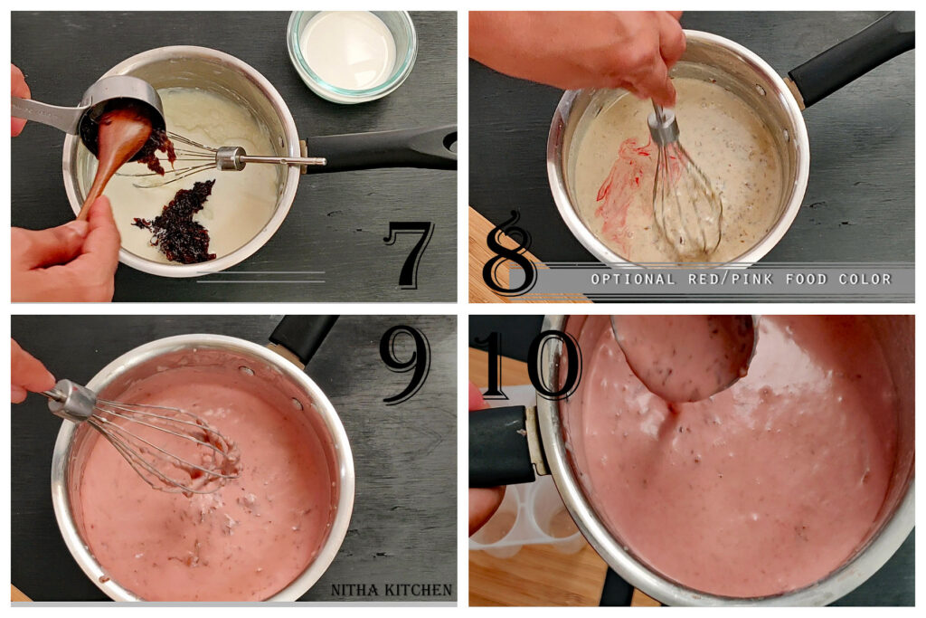 step by step gulkhand kulfi rose qulfi paneer rose kulfi making process