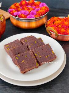 Millet Chocolate Burfi video recipe ragi barfi recipe