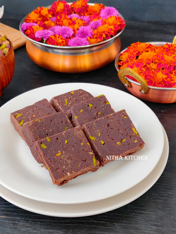 Millet Chocolate Burfi Video Recipe Ragi  Chocolate Barfi Recipe