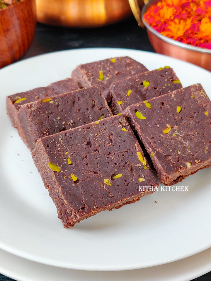 Ragi Chocolate Burfi Millet Chocolate Burfi Video Recipe