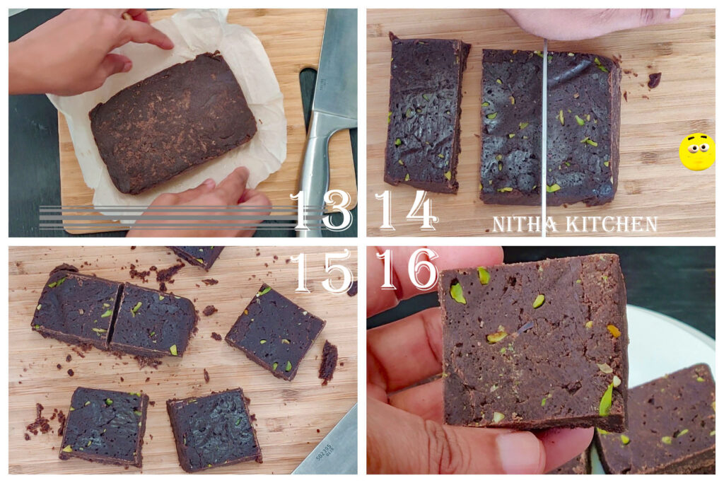 Step by step picture and video recipe for ragi chocolate burfi, finger millet flour recipe and sugar consistency for barfi