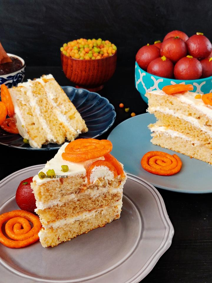 Mithai Theme Rose Tres Leches Cake Video Recipe