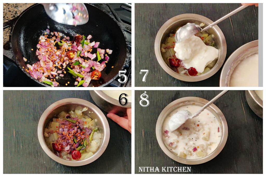step by step lauki raita, surakkai thayir pachadi recipe