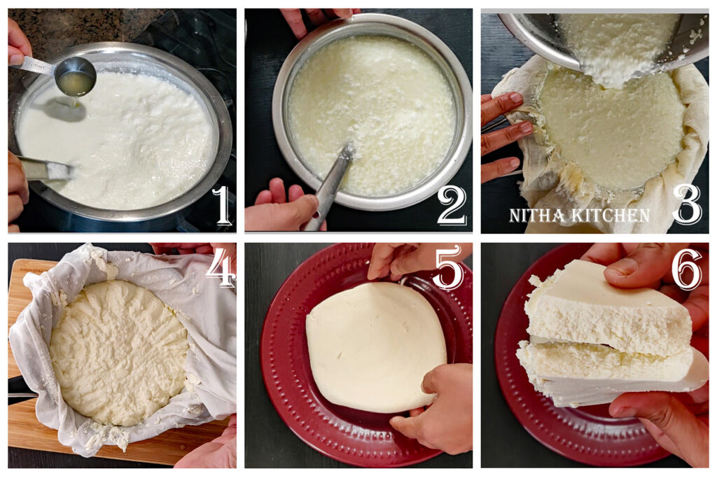 step by step homemade cream cheese preparation