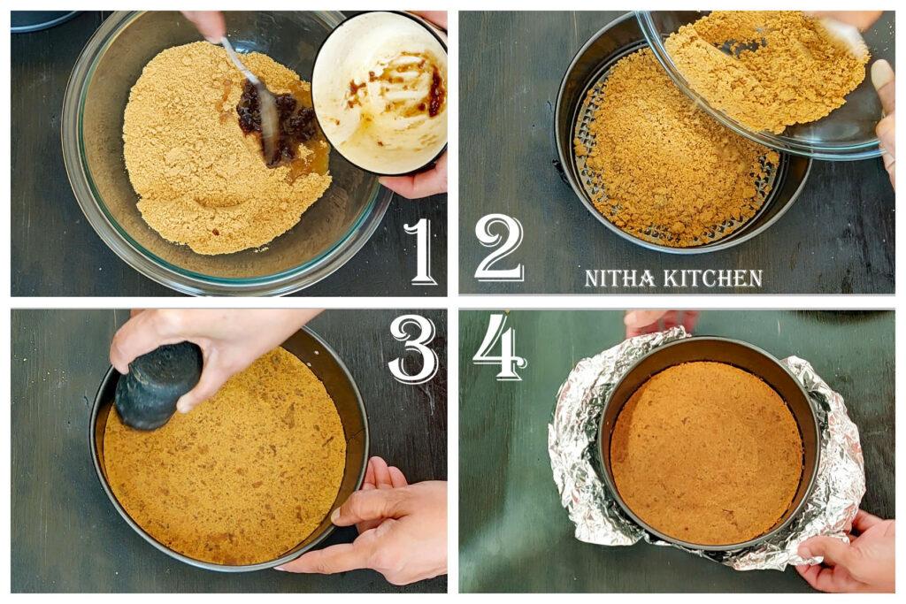 homemade cookie crust for gulab jamun cheesecake recipe