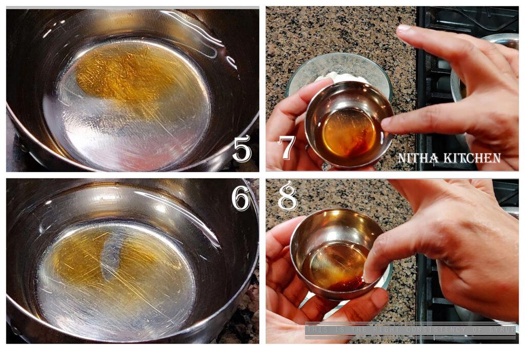 Adhirasam sugar syrup paagu seimurai, step by step thinai millet adhirasam making pictures
