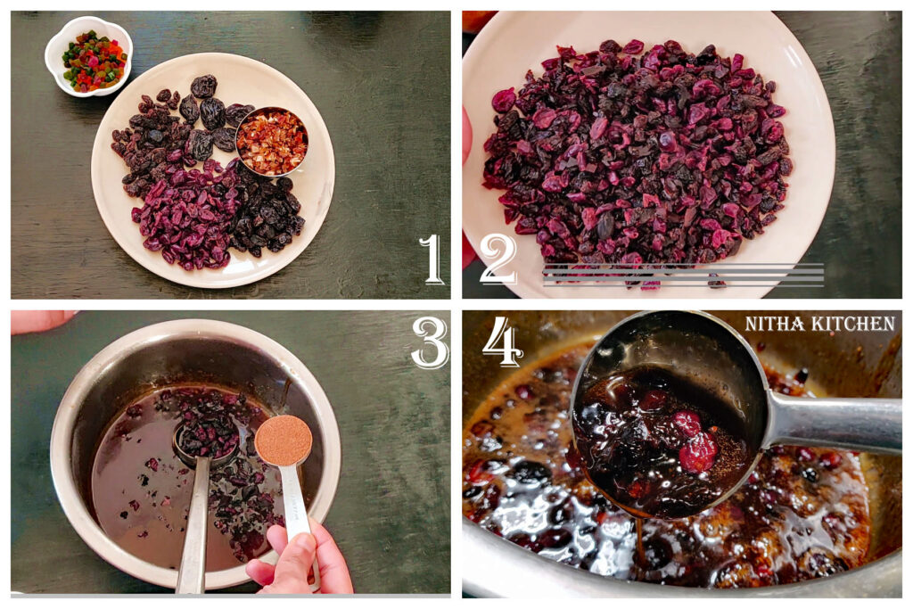 Step by step fruit boiling method for fruit cake