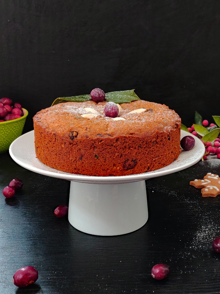 Eggless Christmas Fruit Cake Video Recipe