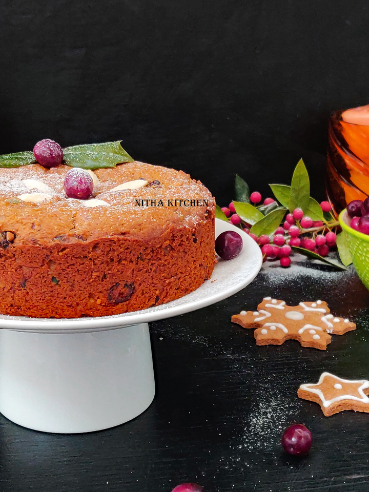 Eggless Wheat Fruit Cake Video Recipe