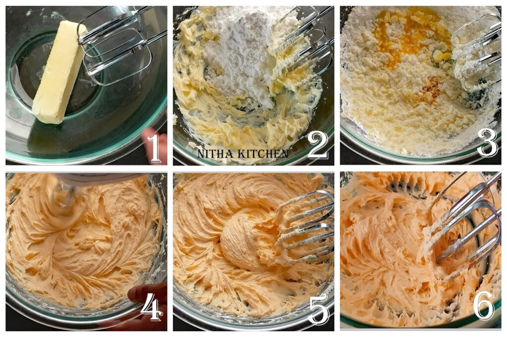 step by step orange buttercream frosting icing video recipe