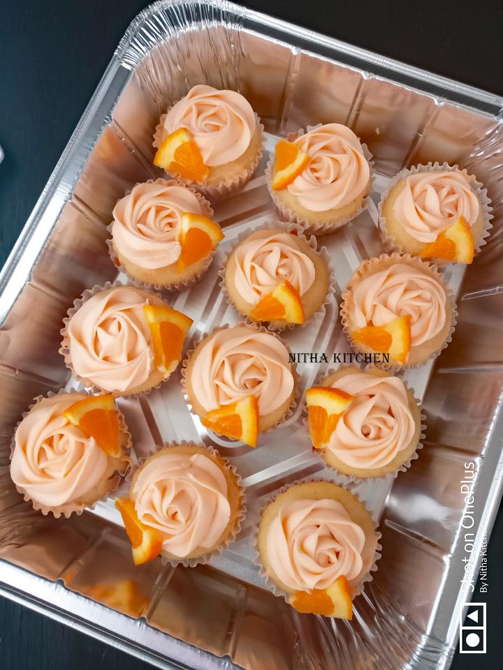 Orange Creamsicle Cupcakes with  Orange Buttercream Frosting Video Recipe