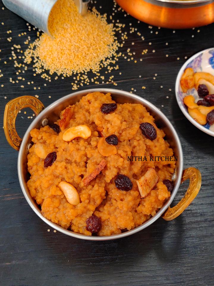 thinai sweet pongal millet sweet pongal sakkarai pongal in instant pot chakkara pongali