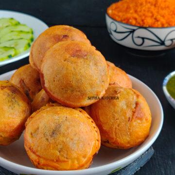 batata vada potato fritters aloo bonda in appe pan video recipe
