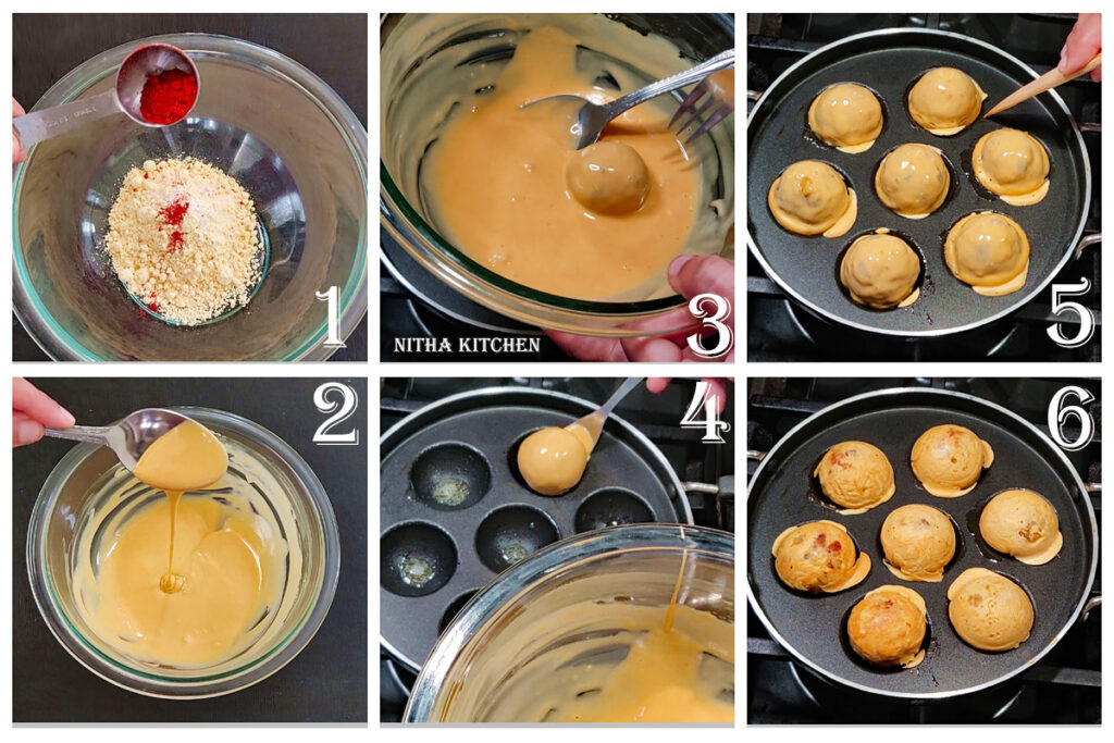 Batata Vada Potato Fritters aloo bonda in appe pan