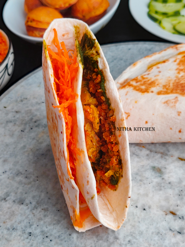 Tortilla Wrap Hack with spicy potato filling Potato fritters and chutney wrap. Tortilla Folding Hack recipe ideas with Indian Twist